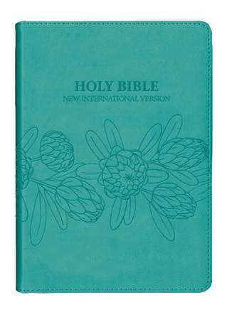 NIV Leather Look Protea Bibles Sea green