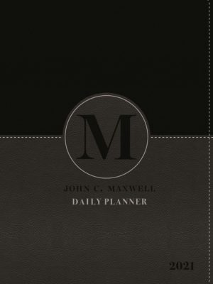 John C. Maxwell Daily Planner 2021 (Black A5 with zip)