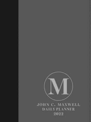 John C. Maxwell Dagbeplanner 2022 (Swart/Grys A5 Kunsleer met ritssluiter)