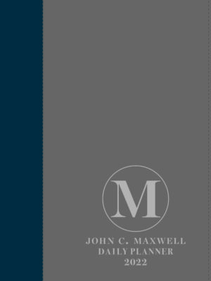 John C. Maxwell Daily Planner 2022 (Blue/Grey A5 Faux leather with zip)