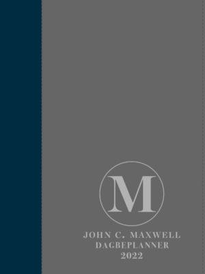 John C. Maxwell Dagbeplanner 2022 (Blou/Grys A5 Kunsleer met ritssluiter)